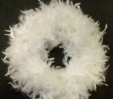 White Feather Wreath - Great For Wedding, Christmas, Home Decor