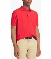 Ralph Lauren Men's SZ M Polo Shirt Faded Red Shirt Navy PONY