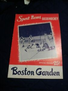 November 16,1958 Toronto Maple Leafs vs.Boston Bruins program nr.mt (see scan)