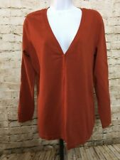 Chicos Burnt Orange Cardigan Sweater Size 2