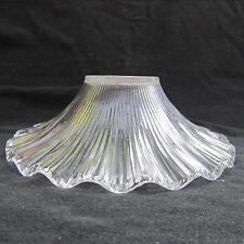 Clear Glass Petticoat Shade for old antique oil kerosene lamp chimney