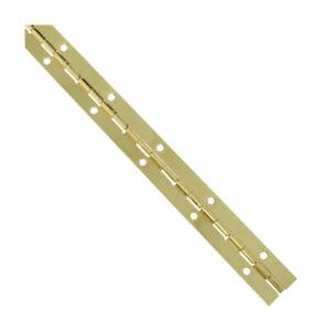 National Hardware N265-355 Brass Steel V570 Continuous Hinge 1-1/16 W x 12 L in.