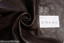 Sm leather piece: Walker Brown. Pebble grain, low sheen. Appx 2.5 sqft. D78X26-5