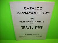 TRAVEL TIME Pinball Machine Catalog Supplement Original WILLIAMS Paperwork 1973
