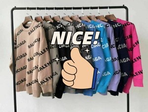 00Balenciaga Sweater Hooded Long Sleeve Pullover Loose fit Jumpers Winter Warm