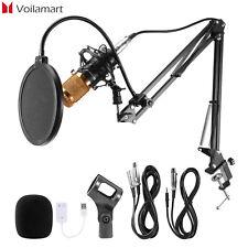 Voilamart BM800 Kondensator Mikrofon set Professionell Komplett Set für Studio