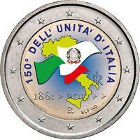 Italien 2 Euro 2011 Prägefrisch 150 Jahre Vereinigung Gedenkmünze in Farbe