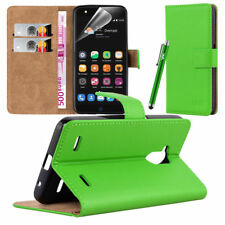 ZTE Blade V7 Lite - Wallet Flip Book Stand View Case Cover Screen Guard Lime
