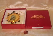 "1988 Hummel Gold Christmas Collection Ornament Of ""Grandpas' Helpers"""