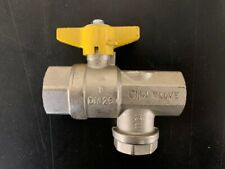 """Brass Ball Valve with Built In Strainer size 1"""" BSP"""