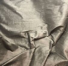 "Brown Taupe - Silk Dupioni Fabric fat 1/4 18""x27"" remnant"