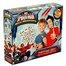 Marvel Ultimate Spiderman Pegatinas Con Tatuajes & Plantilla Cofre 36-0222