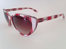 $195 New Authentic Dolce & Gabbana Sunnies Cat Eye Candy Stripes Brown Gradient