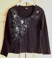 Neuertiges Shirt Tunika von s Oliver gr.36-38-40 schwarz mit Blumen