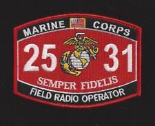MOS 2531 FIELD RADIO PATCH HF VHF COMM US MARINES PIN UP MOS 0631 USS FMF GIFT