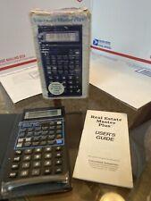 Plus Real Estate Master Plus Calculator W/ Guide And Box