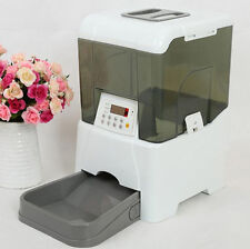 Large LCD Display Electronic Automatic Pet Feeder Dispenser Dog Cat 10.6L