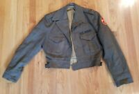 "WWII WW2 US ARMY ""IKE JACKET"" W/PATCHES AND SIDE BUCKLES  - FREE SHIPPING"