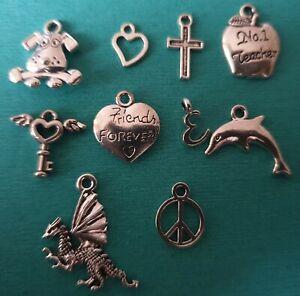 1p AUCTION -  Random Mix - Tibetan Charms - Crafts - Hobby -Jewellery Making