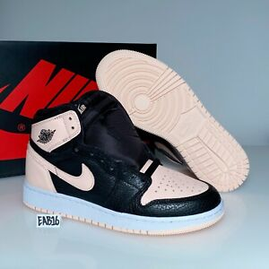 Nike Air Jordan Retro 1 OG Crimson Tint Black Hyper Pink GS BG Kids 575441 081