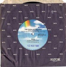 "POCO - THE EVERLASTING KIND - 7"" 45 VINYL RECORD - 1980"