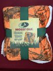 Mossy Oak | Sherpa Throw Blanket |  50x60 | Orange Camouflage | New