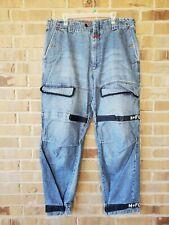 Vtg 90s Mens Marithe Francois Girbaud Cargo Jeans Shuttle Tape Strap 40 x 32