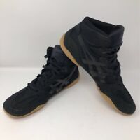 ASICS Mens Matflex 4 Wrestling Shoes Black J306N Lace Up High Top 10.5
