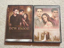 Lot of 2 Twilight Saga Movies DVDS - New Moon & Breaking Dawn - Part 1