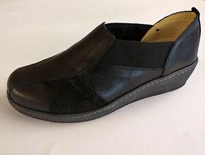 Cinzia soft scarpa made in Italy pelle plantare estraibile DONNA nero IM51008DSD