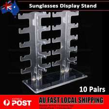 10 Pairs Clear Sunglasses Glasses Rack Holder Frame Display Stand Organizer AU