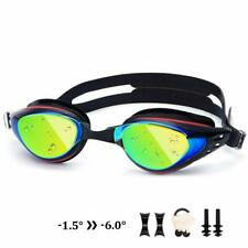 Nearsighted Mirrored Swim Goggles Anti Fog Myopic Optical Swimming Goggles