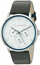 Ted Baker Men's Dress Sport Collection Watch Black Leather Strap # 10029567