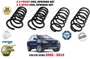 FOR VOLVO XC90 2.5 T 2.9 T6 D3 D5 AWD 2002-2014 2X FRONT 2X REAR COIL SPRING SET