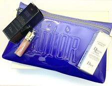 Dior cosmetic bag / pouch blue with a set of 3 samples inside VIP GIFT RARE