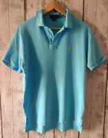 Vintage Polo Ralph Lauren T-Shirt Aqua Blue Size M