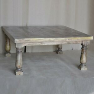 Clovelly Carlton Rustic Mango Wood Coffee Table Square Natural (MADE TO ORDER)