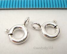 50x ITALIAN STERLING SILVER SPRING ROUND RING CLASP 6mm #2416A