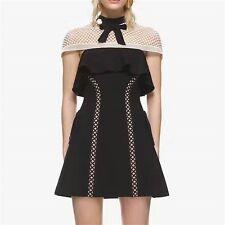 Capped Sleeve Mini Dress Black/White