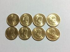 Complete set P&Ds 2014 Presidents 8coin set.