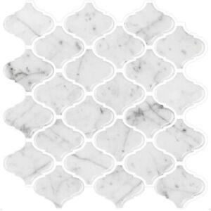 "3D 4 Sheets Pack Vinyl Stick on Tiles, Self Adhesive, 10""x10"" (24.5cm x 24.5cm)"