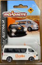 Majorette Cars 13 cabs AUSTRALIA TAXI Cars [Hiace White] Scale 1/64 Diecast Car