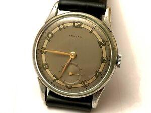 Vintage 1944 Zenith Watch Wristwatch manual wind Calibre 12-4-P size 33mm