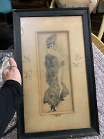 Vintage drawing Gibson Girl By Chester Tash Fabulously Wonderful