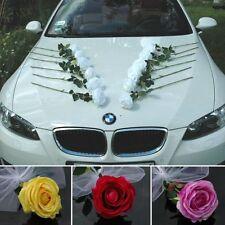 ECHTE ROSEN Auto Schmuck Braut Paar Rose Deko Dekoration hochzeit autoschmuck