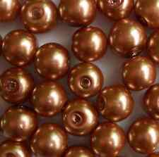 Glass Pearl Czech Round DIY Jewelry Spacer Loose Beads 4mm 6mm 8mm 10mm