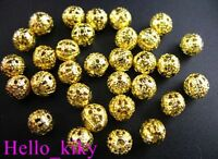 200 pcs Gold plated filigree spacer beads 8mm M289