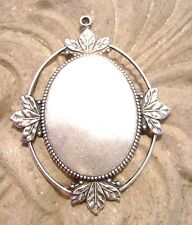 1820 - Antiqued 925 Silver ptd Oval Cab Setting Bezel Mount for 40x30mm Cabochon