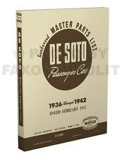 DeSoto Master Parts Book 1936 1937 1938 1939 1940 1941 1942 De Soto Catalog