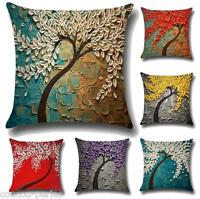 Linen Waist Throw Pillow Case Sofa Home Decorative Gift Cushion Cotton Cover CD
